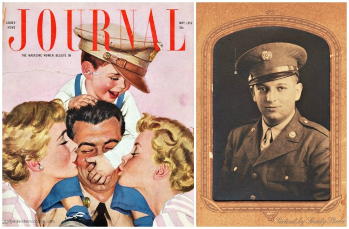 Post WWII Family cover and authors father soldier