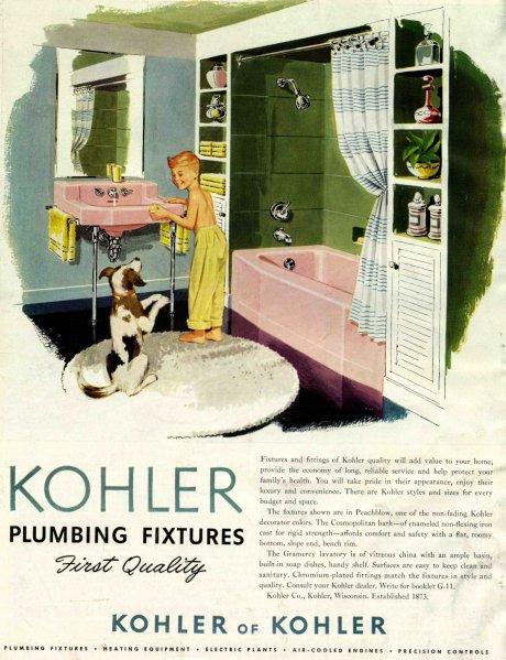 vintage ad Kohler Bathroom
