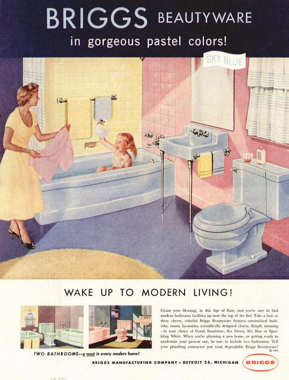 Vintage ad Bathrooms 1950's