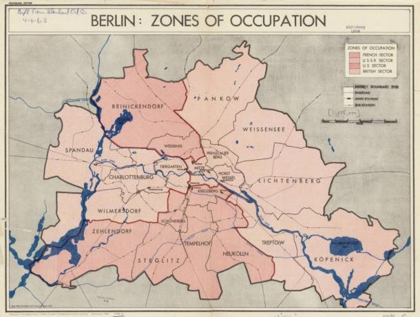 Divided Berlin 1945
