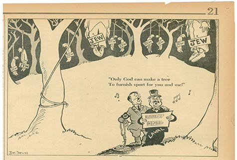Cartoon by Dr Seuss 1940s