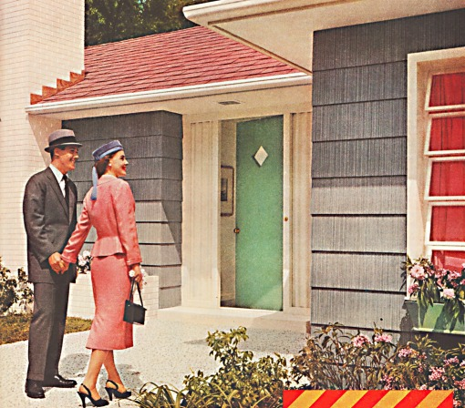 suburban house couple 1950s