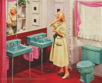 Vintage Bathroom 1950s