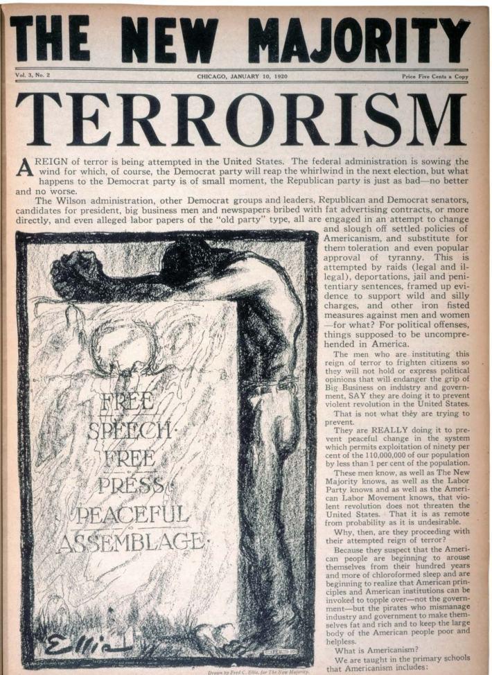 Vintage newspaper The New Majority 1920