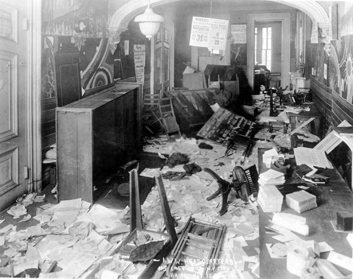 Raid of the IWW headquarters