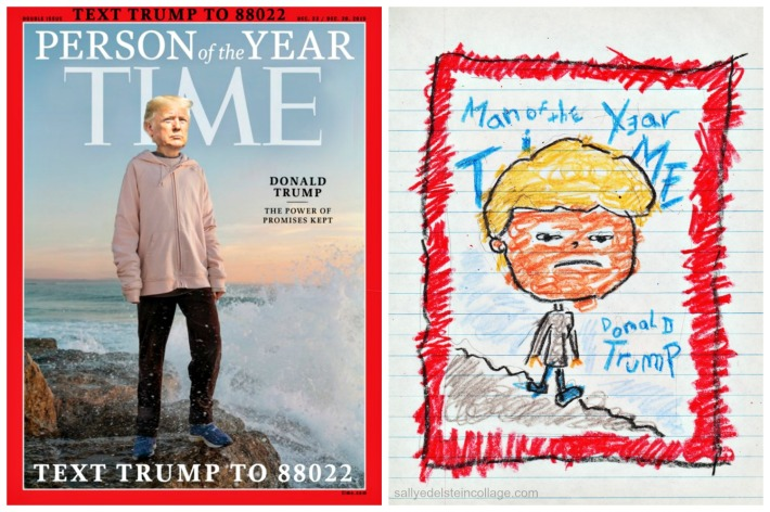 Doctored TIME's Person of the Year and child drawing of TRump