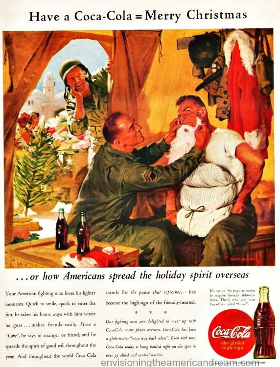Vintage WWII ad Coke 1943