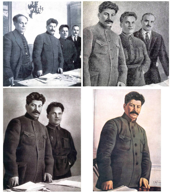 Stalin Soviet altered Photograph