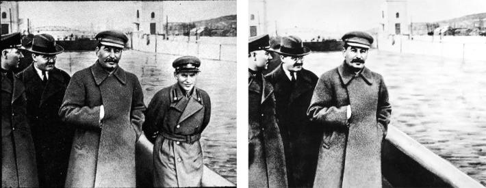 Stalin manipulated photograph