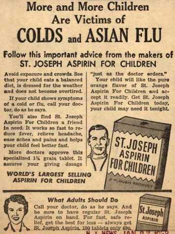 Vintage ad for Aspri Asian Flu