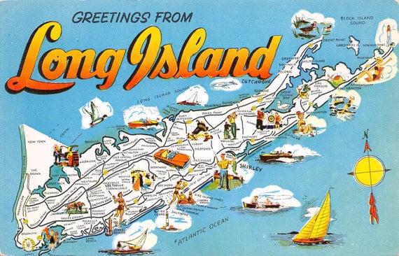 Vintage postcard Long Island