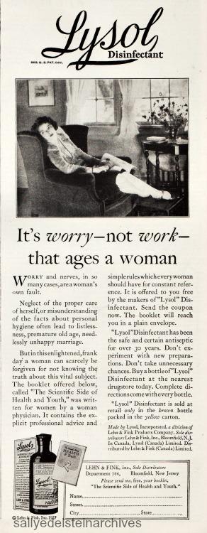 Vintage Ad 1928 Lysol