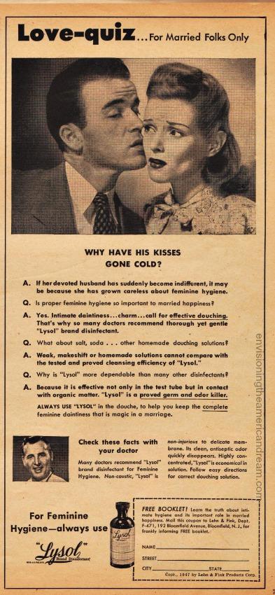 Vintage Lysol Ad 1948