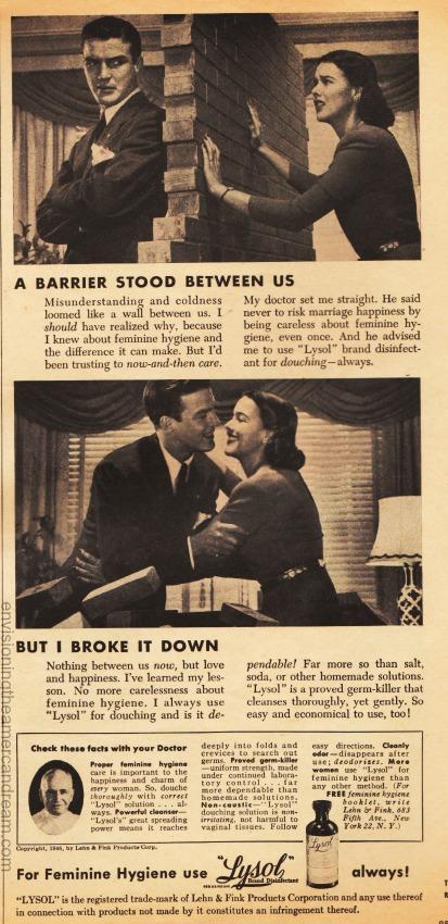 Vintage ad 1946 Lysol