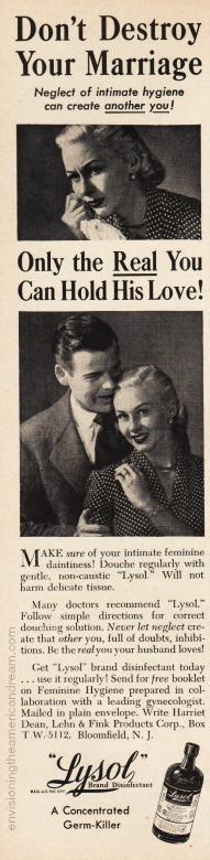 Vintage Lysol Ad 1951
