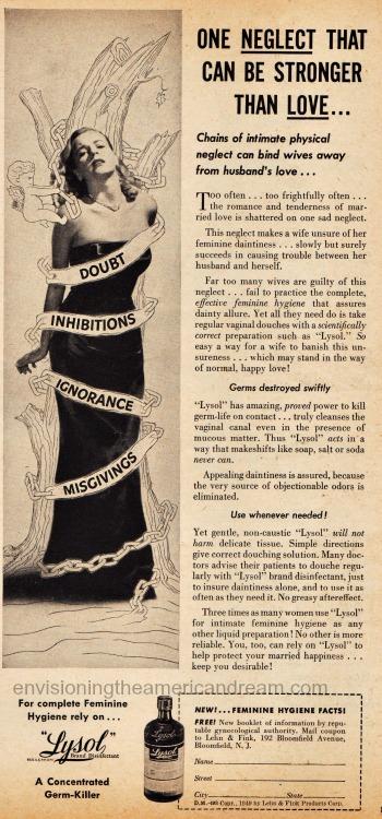 Vintage Ad 1949 Lysol