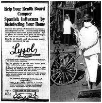 Lysol ad 1918 Spanish Flu