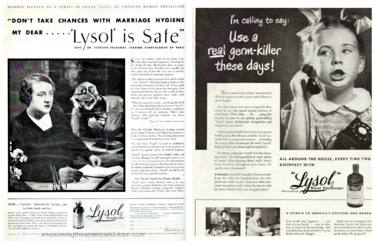vintage Lysol Ads