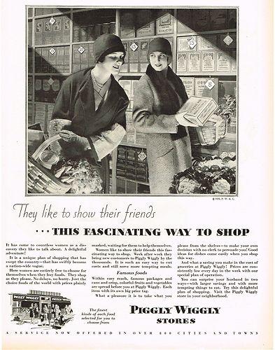 Vintage Piggly Wiggly Ad 1928