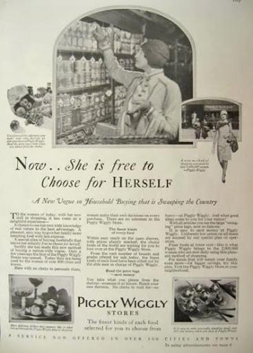 Vintage Ad Piggly Wiggly