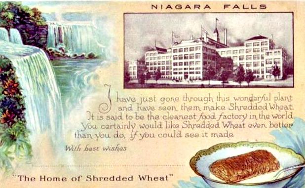 Vintage Postcard Shredded Wheat