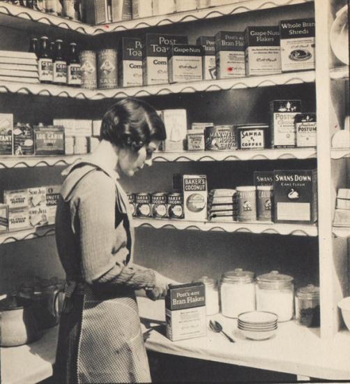 Vintage Housewife in pantry