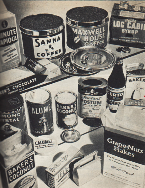 packaged foods 1930