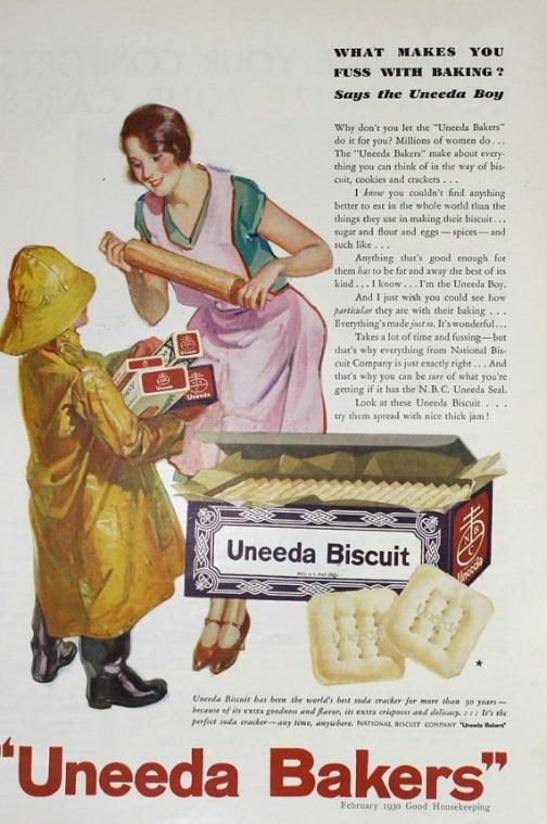Vintage ad Uneeda Biscuit