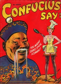 Vintage Racist Joke Book Confucius Says