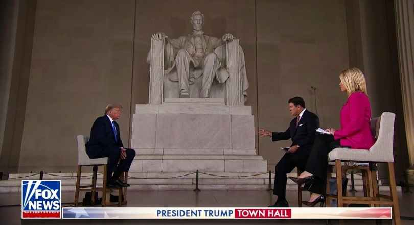 Donald Trump Town hall Lincoln Memorial