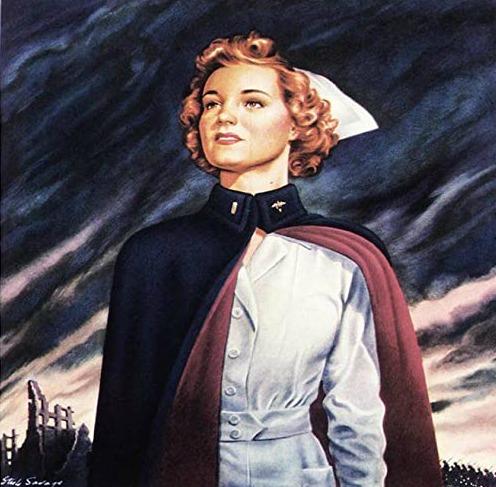 WWII Army Nurse Illustration