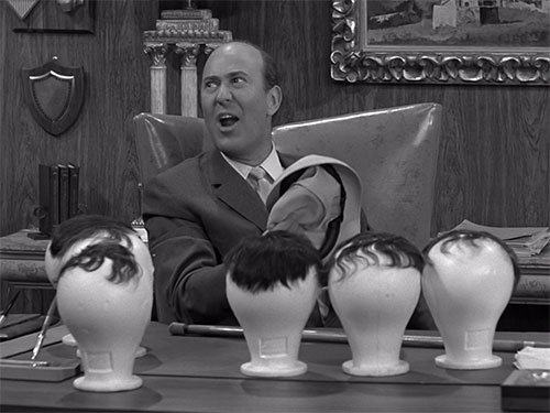 Carl Reiner as the hair challenged Alan Brady On The Dick Van Dyke Show