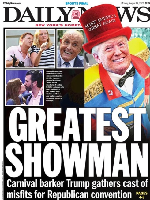 NY Daily News Cover Aug 24 2020
