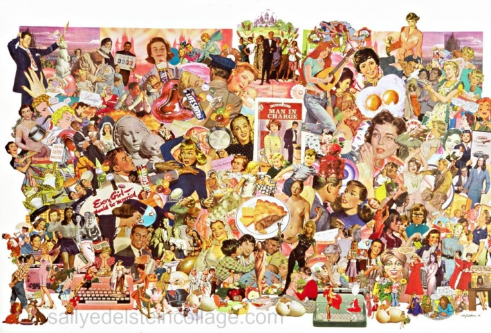 """""""Man in Charge"""" Collage Sally Edelstein"""