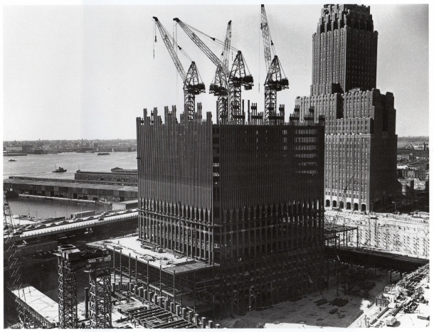 Construction of World Trade Center 1969