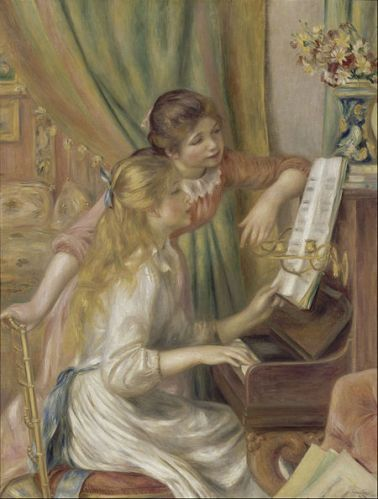 "Auguste Renoir- ""Girls at the Piano"" Jeunes Filles au Piano"