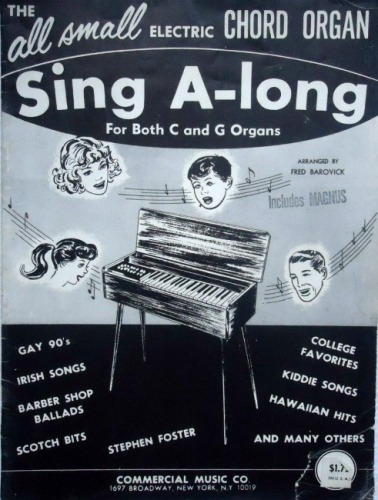 Vintage Song Book for Electric Chord Organs