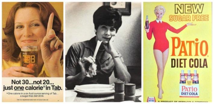 Vintage ad Tab and Vintage ad Patio Diet Cola