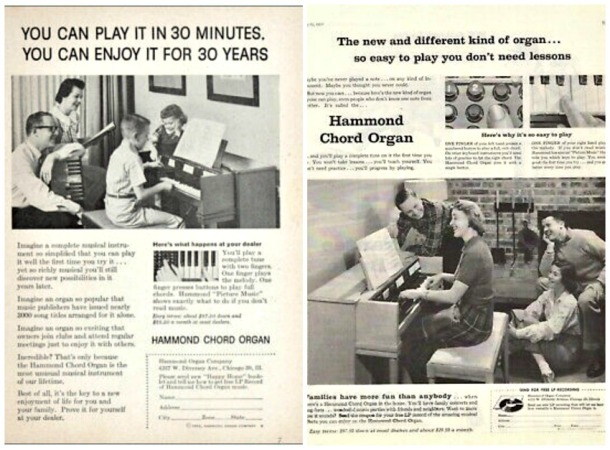 Vintage Hammond Chord Organs Ads