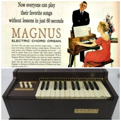 Vintage Ad Magnus Electric Cord Organ