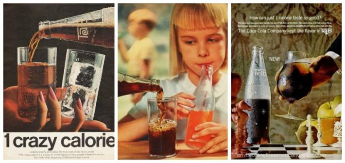 vintage ads doer tab gorl drinking soda