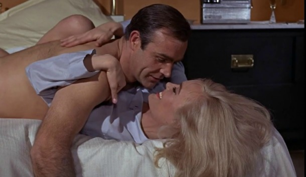 Goldfinger 1964 Sean Connery and Shirley Eaton