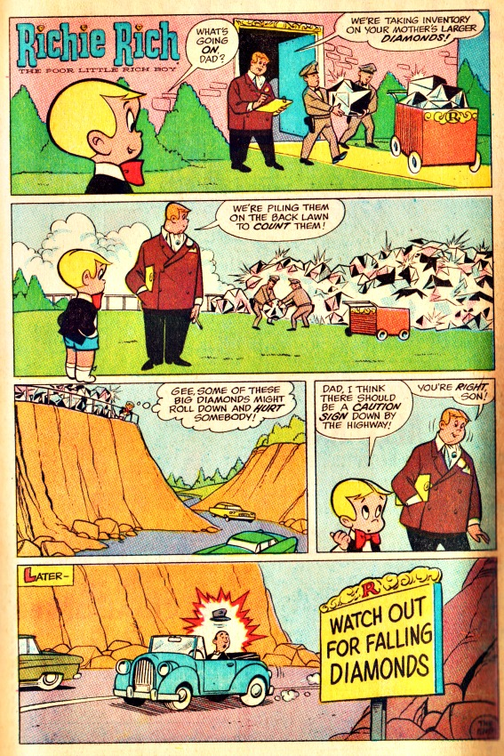 Richie Rich Comic Book Page