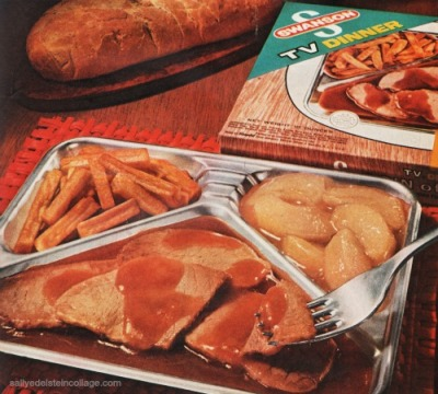Vintage Swansons TV Dinner Ad