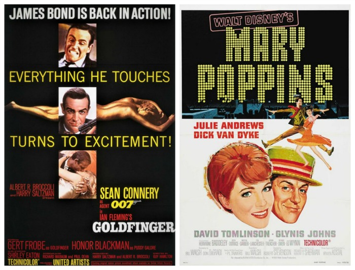Movie Posters -Goldfinger and Mary Poppins 1964