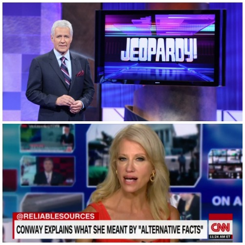 Alex Trebek and Kellyanne Conway