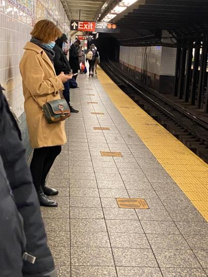 NYC Subway platform 2020