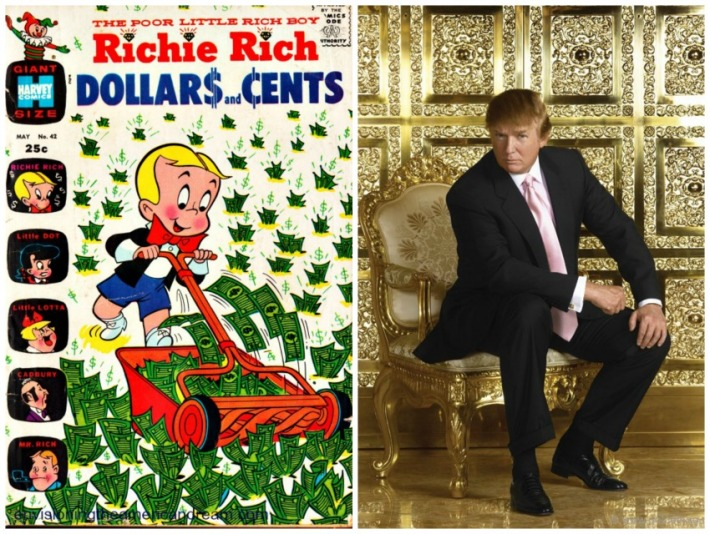 Richie Rich comic Book and Donald Trump