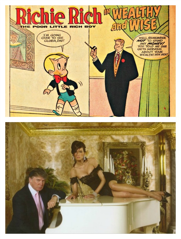 Richie Rich and Donald Trump and Melania Trump