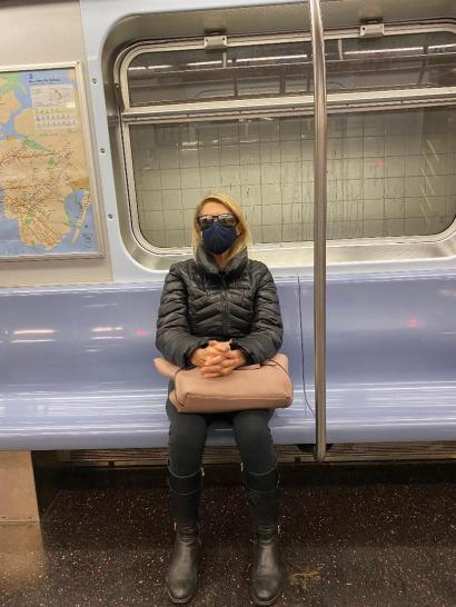 Woman in NYC Subway 2020